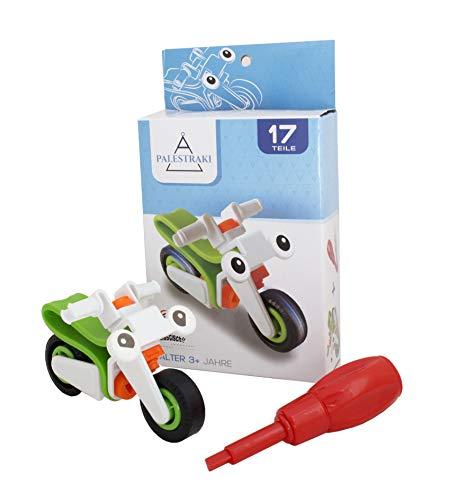 PALESTRAKI Fahrzeuge zum Zusammenbauen - Motorrad - Kinder Spielzeug ab 3 Jahre