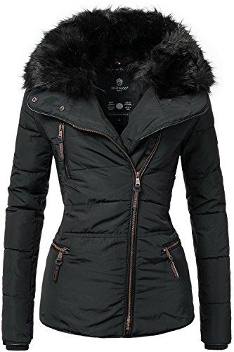 Marikoo Damen Jacke Winterjacke Steppjacke Marta (vegan hergestellt) Schwarz Gr. XXL