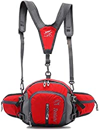 Jepeak Multifunctional Can As Waist Pack Water Resistant Fanny Pack Bag Sports Backpack With Water Bottle Holder...