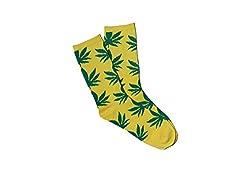 69th Avenue Mens Cotton Socks (Yellow)
