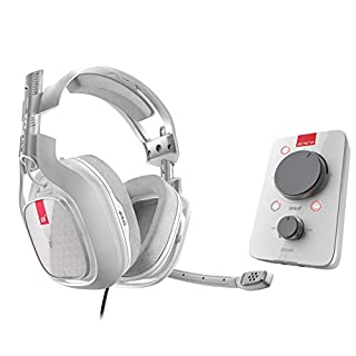 ASTRO Gaming A40 TR Wired Headset + MixAmp Pro TR with Dolby 7.1 Surround Sound, Compatible with Xbox One, PC, Mac, White