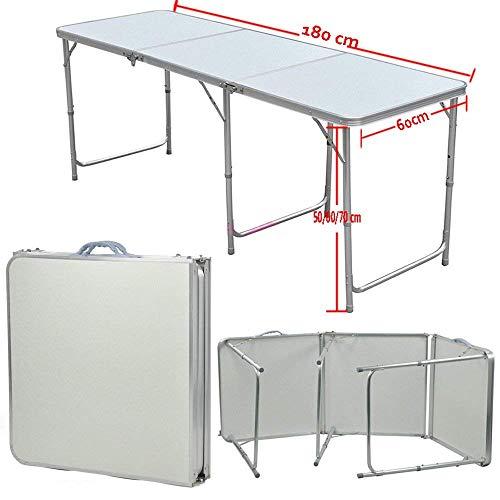 Tavoli In Alluminio Pieghevoli Per Mercati.Qitao 1 8 M In Alluminio Tavolo Pieghevole Bagagliaio Stall
