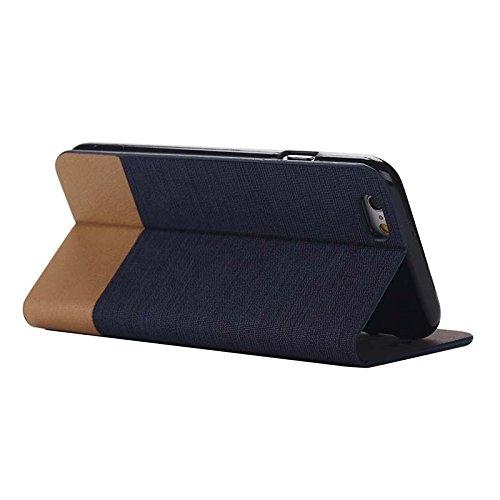 Phone case & Hülle Für IPhone 6 / 6S, horizontaler Flip-Segeltuch-Leder-Kasten mit Einbauschlitz u. Halter ( SKU : S-IP6G-0886E ) S-IP6G-0886D