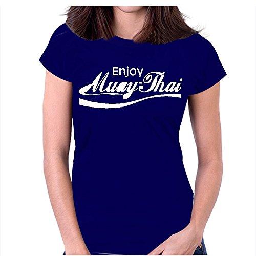 Snoogg Genießen Muay Thai Lässige Slogan/Printed Lustige Humor-T-Shirts Mit Rundhalsausschnitt, Kurzärmeliges T-Shirt For Damen (Lustige Slogan Damen T-shirt)