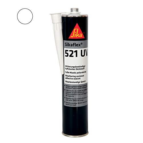 Sikaflex-521 UV, Witterungsbeständiger haftstarker Dichtstoff, 300ml, Weiss