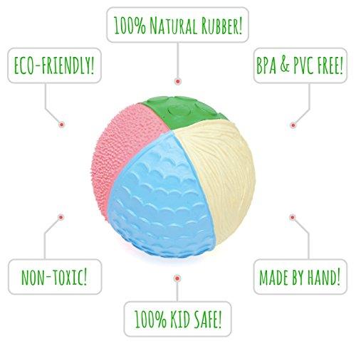 Lanco Naturkautschuk Babyball Sensory Ball PHANTASY (9cm) - Motorikspielzeug - Frei Zusatzstoffen: 0% PVC, BPA, Phthalate