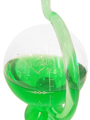 Barometer antiker Stil Wetterstation rund aus Glas zum stellen mit Wetterskala außen Messinstrument...
