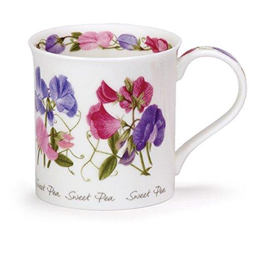 DUNOON Bone China Spring & Summer Flowers Bute Tasse, Porzellan, Sweet Pea China Sweet Pea