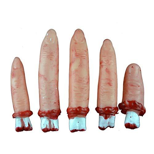 Tensay Menschlicher Finger Hand Blutige Leichenteile Spukhaus Halloween Prop Kostüm Neuheit Lustiges Spielzeug Home Bar Party Dekoration