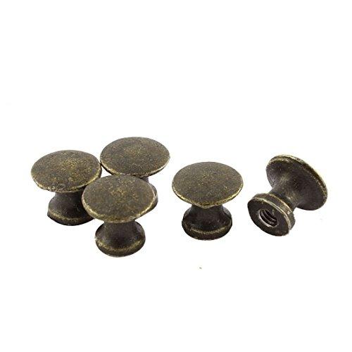 SOURCING MAP Armario Puerta 11 mm Altura Metal tiradores tono bronce 5 piezas