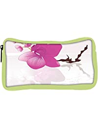 Snoogg Eco Friendly Canvas Abstract Background With Blossoms Student Pen Pencil Case Coin Purse Pouch Cosmetic...