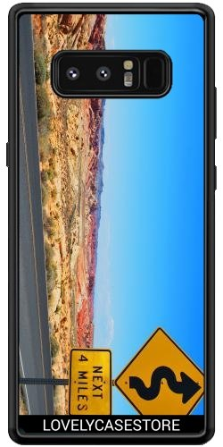 SilikonHülle für Samsung Galaxy Note 8 (SM-N950) - Straße USA USA Drehen Vereinigte Staaten Wüste Arid Sun Sky Blue