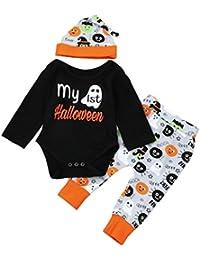 Deguisement Halloween Bébé Filles Garçons Romper Longra Tops Manches  longues Bodys Bébé+Imprimé Pantalons+ 22e5fbfc7ee