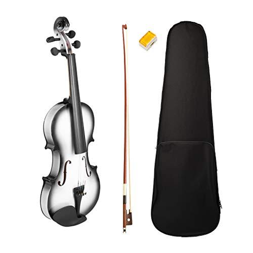 perfk Akustische Violine Set Geige für Anfänger mit Hard Case, Bogen, Kolophonium - 4-4