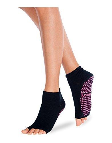 Tucketts Yoga Socken Stoppersocken Damen Anti Rutsch Abs Socken, Toeless Rutschfeste für Pilates, Barre, Studio, Bikram, Ballett, Tan - Anklet Stil