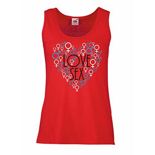 Femme Débardeur Sans manche Saint-Valentin, Idées-cadeaux Rouge Multicolore