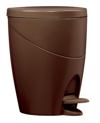 Wirquin 20719219 Color Line - Papelera con pedal, color marrón