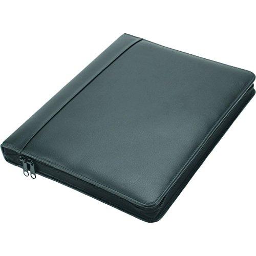 Preisvergleich Produktbild Alassio 30010 - Ringbuchmappe Monza, DIN A4, aus Nappaleder, schwarz, ca. 34,5 × 27 × 4 cm