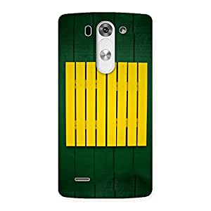 Gorgeous Green Squares Yello Back Case Cover for LG G3 Mini