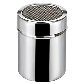 TRIXES Icing Sugar Shaker Stainless Steel Shaker Cocoa Flour Spice Powder Tin (B01EYW3WQI) | Amazon price tracker / tracking, Amazon price history charts, Amazon price watches, Amazon price drop alerts