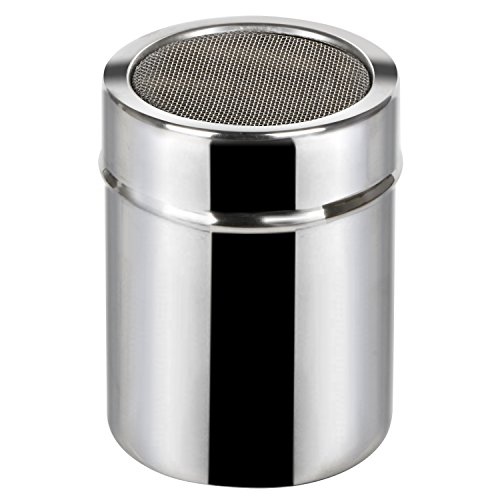TRIXES Icing Sugar Shaker Stainless Steel Shaker Cocoa Flour Spice Powder Tin -