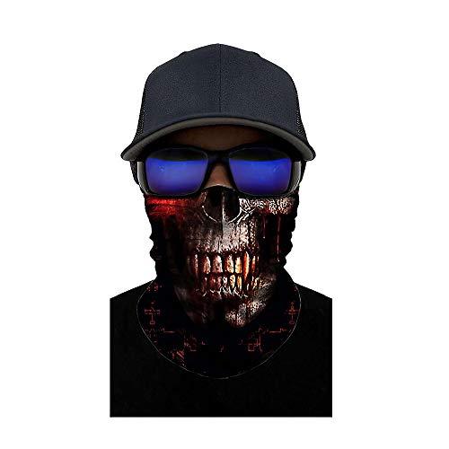 Kostüm Dem Am Morgen Nach - ZXYSR Balaklava Ghost Totenmaske, Halloween Kostüm Cosplay Warme Vollmaske Radfahren Motorrad Skifahren Outdoor Sports,E