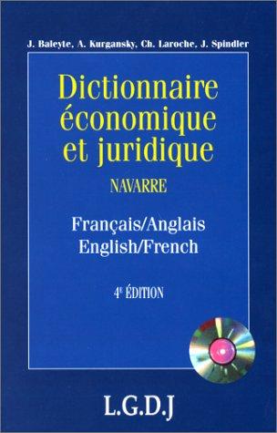 Dictionnaire économique et juridique, français-anglais, 4e édition