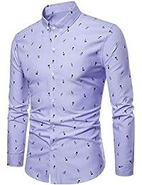 Blusa Manga Larga Hombre, Covermason Blusa con Estampado de algodón de Moda en otoño