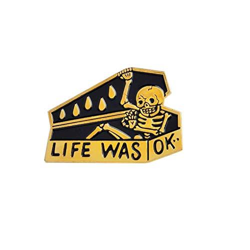 Republe Vintage Breastpin Öl-Tropfen-Sarg Skeleton Punk Style-Brosche Jeans Kleidung Tasche Dekoration Geschenk Schmuck - Vintage Rock Anzug