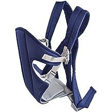 Mochila Portabebé De Algodón Color Azul Oscuro para bebes de 3 a 12 meses - Para bebés de 3,5 kg hasta 9 kg