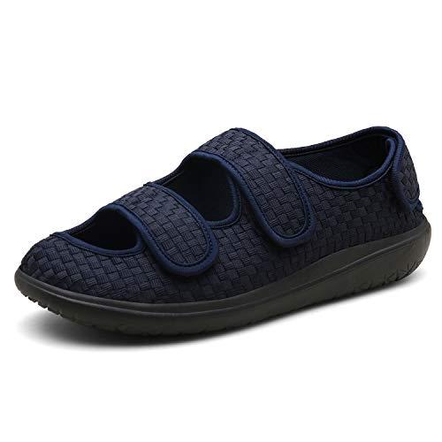 Sandalias Mujer Hombre Zapatillas de Estar por casa Zapatos Diabéticos Respirable Zapatillas Ortopédica para ensanchar Ajustable Cómoda Artritis Edema Zapatos hinchados