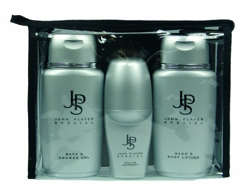 Hand Lotion Set (John Player Special Silver Mini Travel-Set Bath und Showergel 150 ml + Hand und Body Lotion 150 ml + Deo Roll-On 50 ml)