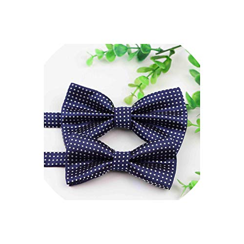 Pevv Wason men bow ties Parent Child Dot Bowtie Sets Kids Pets Adult Family Butterfly Party Dinner Wedding Nice Bowtie,Set 01 Dot Self-tie Bow