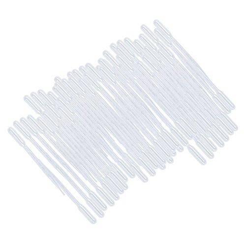 SODIAL(R) 100 Pcs Ensemble de Laboratoire en Plastique Transparent Gouttes Pipette Graduee 3mL