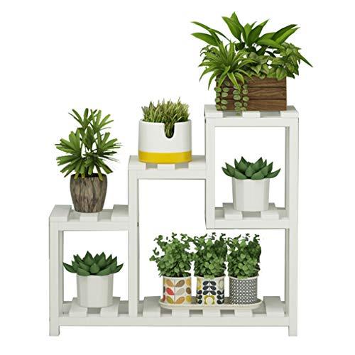 JHEY Blumenrahmen Massivholz Fensterbank Racks fleischigen kleinen Blumenregal Multi-Layer-Indoor-Balkon Wohnzimmer