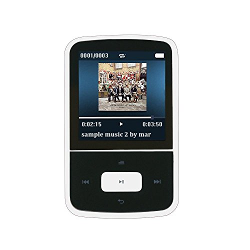 AGPTEK G05W- MINI CLIP BLUETOOTH REPRODUCTOR DE MP3 8 GB TFT PANTALLA 1 5 PULGADAS CON RADIO FM