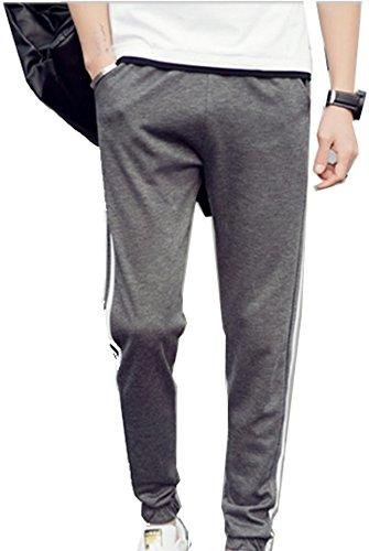 Juicy Trendz Uomo Slim fit vello jogger pantaloni Jogging pantaloni della tuta Activewear Charcoal