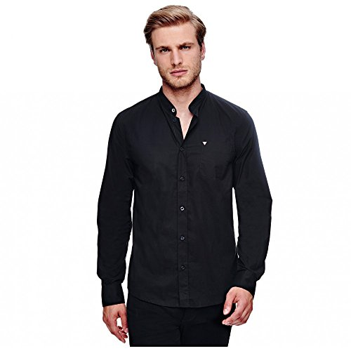 Chemise Guess Korean Collar Noir Noir