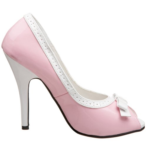 Pleaser, Scarpe col tacco unisex adulto Blu (baby pink/white)