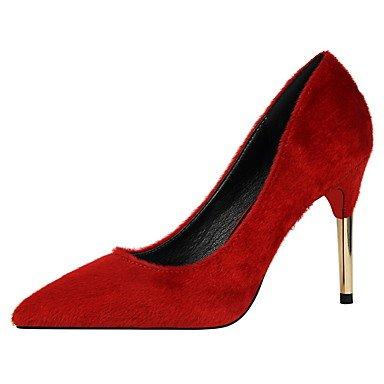 Moda Donna Sandali Sexy donna tacchi primavera / estate / autunno casual Comfort Stiletto Heel nero / rosso / grigio / Kaki / Animale a piedi di stampa Khaki
