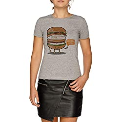 Diet Soda Damen Grau T-Shirt Größe M | Women's Grey T-Shirt Size M