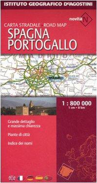 Spagna, Portogallo. Carta stradale 1:800.000 (Carte stradali estero)