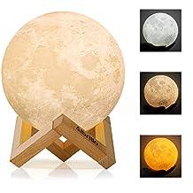 16Farbe 3D LED Magisch Mond Lampe Schalter Nachtlicht Mondlicht Berührungssensor