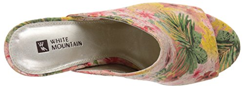 White Mountain Datenight Toile Mules Hawaiian Floral.