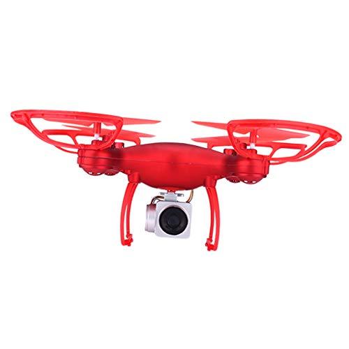 P Prettyia Telecamera RC Drone HD 1080P 0.3MP Quadricottero Grandangolare Telecomando, modalità Senza Testa, Ritorno con Un Pulsante - Rosso