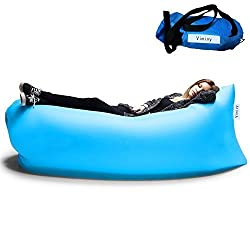 Outdoor Convenient Inflatable Lounger Hangout Nylon Fabric Sleeping Compression Air Bag (Blue)