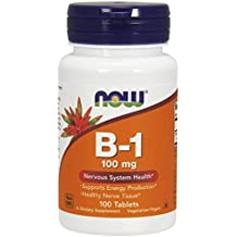 NOW Foods Vitamin B-1 (Thiamine) 100mg, 100 Tablets