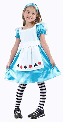 Labreeze Alice im Wunderland Mädchen-Kostüm Märchen-Kostüm Kinderbuch Wochen-Tag (Alice Mädchen Kostüm)