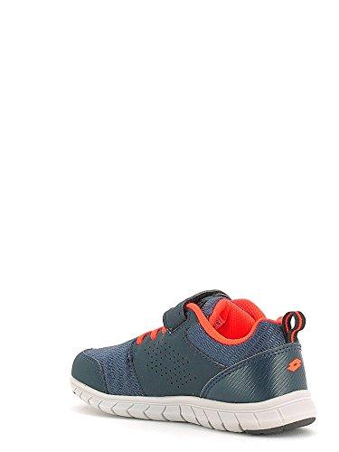 Lotto Spacerun Ii Cl Sl, Chaussures de Running Mixte Bébé Bleu / argenté (bleu marine foncé / métal argenté (silver metal))