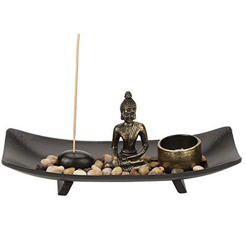 Mesa Buda Estatua Hogar Zen Jardín Budismo Candelabro